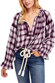 Womens Juniors V-Neck Ruched Blouse