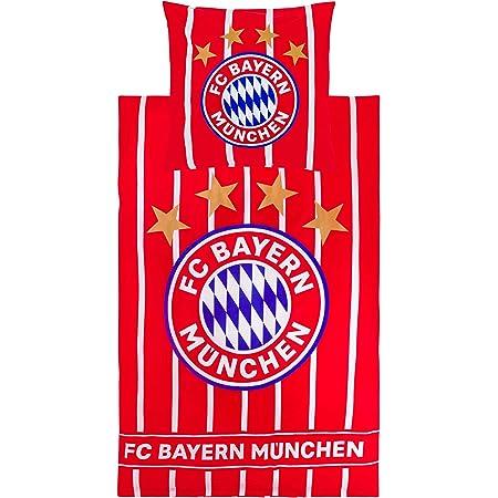 80 x 80 cm 100/% Baumwolle Biber-Flanell-Qualit/ät Deutscher Rekord-Meister Alianz Arena Fu/ßball FCB deutsche Gr/ö/ße mit Rei/ßverschluss FC Bayern M/ünchen Wende-Bettw/äsche MIA SAN MIA 135 x 200