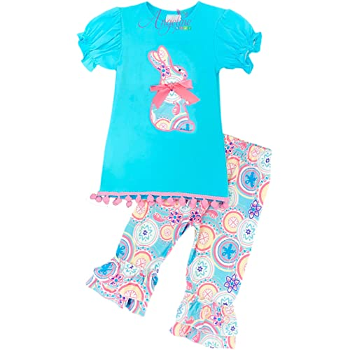8a4440a0c Baby Toddler Little Girls Easter Bunny Playwear Capri Outfit Set Boutique  Designs