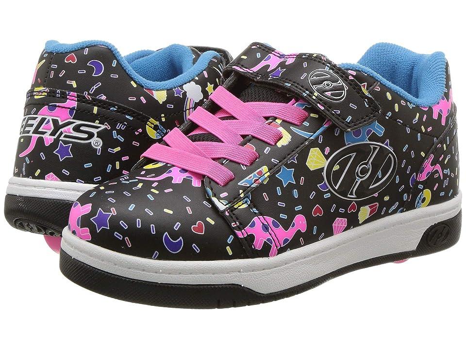 Heelys Dual Up X2 (Little Kid/Big Kid/Adult) (Black/Multi/Unicorn) Girls Shoes
