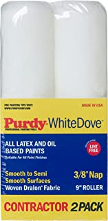 Purdy 14C863300 White Dove Roller Cover, 2 pack, 9 inch x 3/8 inch nap
