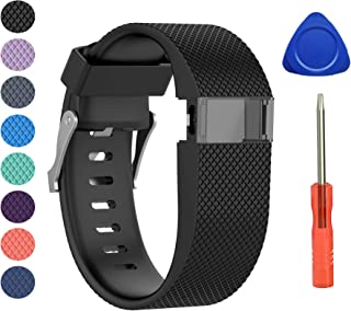 BeneStellar Newest for Fitbit Charge HR Band, Silicone Replacement Small Large Band Bracelet Strap for Fitbit Charge HR Wireless Activity Wristband
