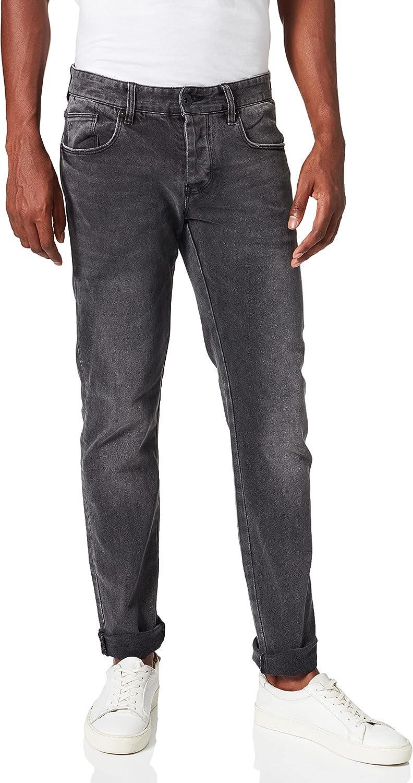 Armani Exchange Skinny Medium Grey Wash with Abrasion Details Jeans para Hombre