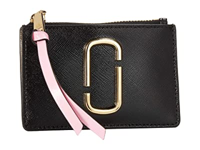 Marc Jacobs Snapshot Top Zip Multi Wallet (New Black Multi) Wallet Handbags