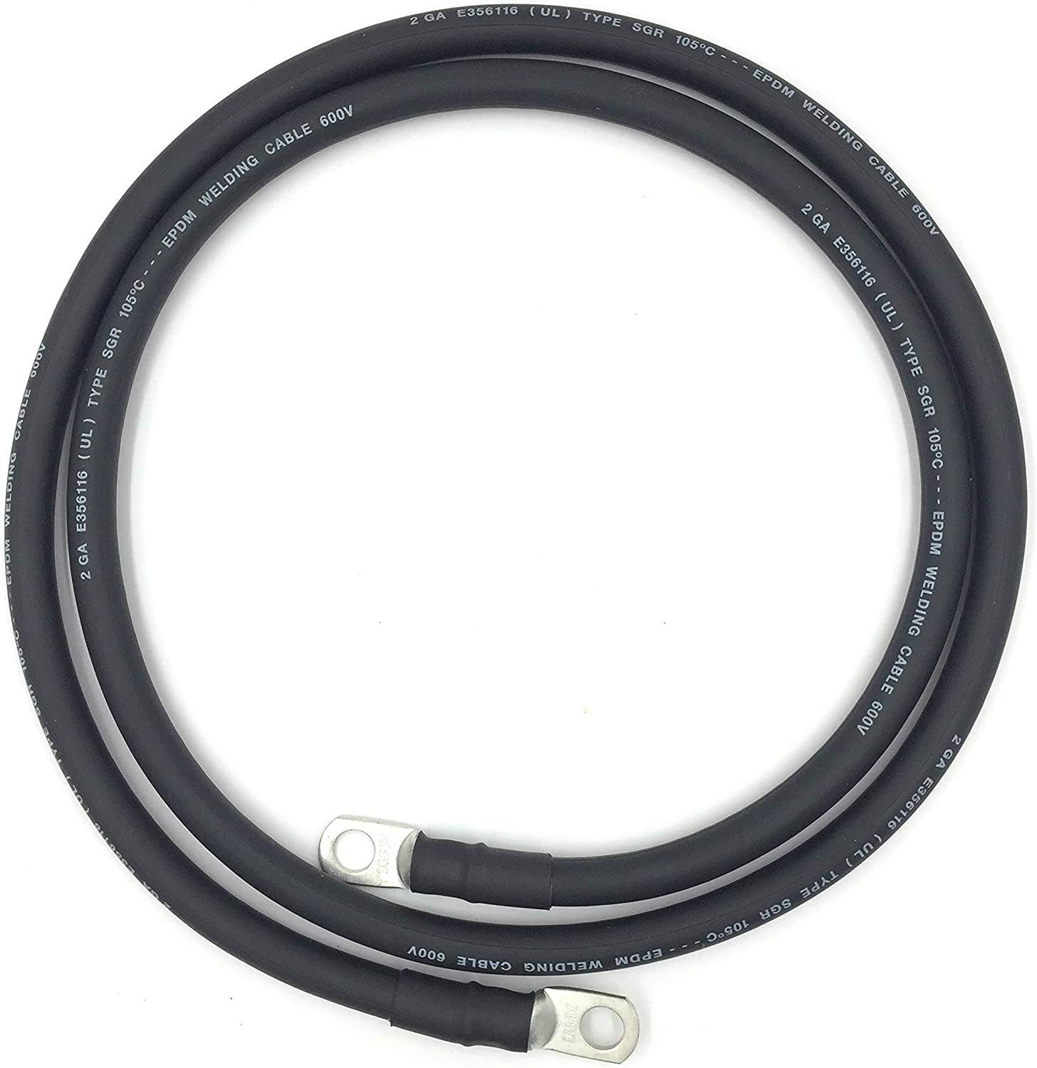 2 AWG Gauge Ultraflex EPDM Low price Fully Assembled i Cables Battery Daily bargain sale Made