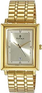 Titan Analog Gold Dial Men's Watch-NK1715YM02
