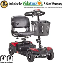 Drive Medical Scout 4 Travel Power Mobility Scooter with 5 Year Extended Warranty