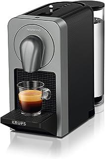 Nespresso Prodigio XN410T Cafetera de cápsulas de 19 Bares, 3 programas de café y Conectividad Bluetooth con la App de Nesspreso, 1260 W, 1 Cups, Titán