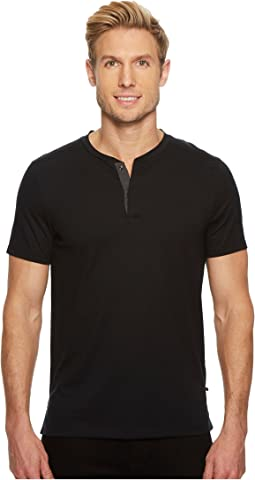 Calvin Klein - Shoulder Piping Hidden Placket Henley