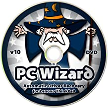 PC Wizard - Automatic Drivers Recovery Restore Update for Lenovo (IBM) ThinkPad Laptops on DVD Disc - Supports Windows 10, 8.1, 7, Vista, XP (32-bit & 64-bit) - Supports All Hardware Devices