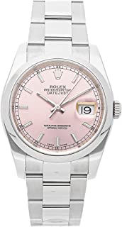Rolex Datejust Mechanical (Automatic) Pink Dial Mens Watch 116200 (Certified Pre-Owned)