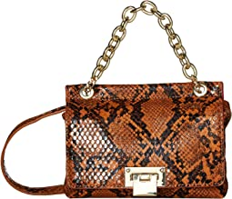 Lissie Snake Mini Lock Crossbody