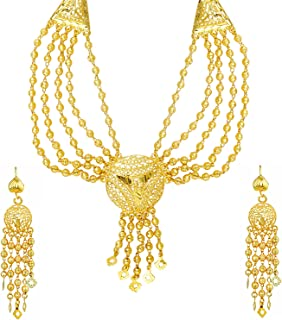 bodha 22K Gold Plated Traditional Indian Bollywood Necklace Jewellery Set for Women (SJ_2644)