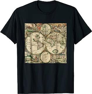 World Map 1689 T-Shirt Gerard van Schagen Cartography