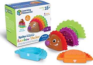 Learning Resources Spike the Fine Motor Hedgehog Rainbow Stackers, Amazon Exclusive, Stacking & Counting Toy for Toddlers,...