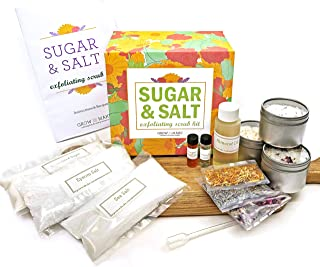 DIY Sugar & Salt Exfoliating Scrub Making Kit - Learn how to make skincare products at home with supplies from Grow and Make!