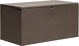 Arrow 4' x 2' x 2' Spacemaker Espresso 134 Gallon Hot-Dipped Galvanized Steel Storage Deck Box