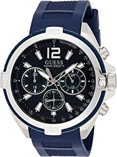 Guess Mens Quartz Watch, Analog Display and Rubber Strap W1168G1