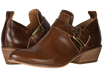 FRYE AND CO. Rubie Moto Slip-On (Cognac Vintage Pull Up Leather) Women