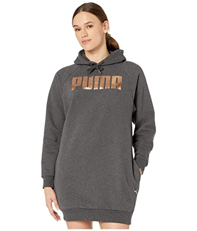 PUMA Holiday Pack Fleece Sweatshirt Dress (Dark Grey Heather) Women