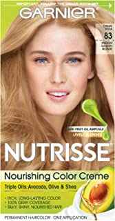 Garnier Nutrisse Nourishing Hair Color Creme, 83 Medium Golden Blonde (Cream Soda)  (Packaging May Vary)