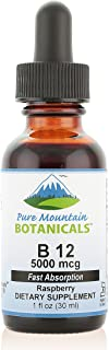 B12 Vitamin 5000 mcg - Kosher B12 Drops in 30ml Bottle with Natural Berry Flavour