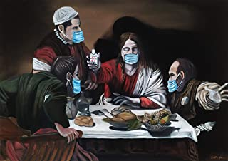 óleo sobre lienzo, firmado Walter Geraci, Covid in Emmaus, xl, 2020, del atelier del artista.