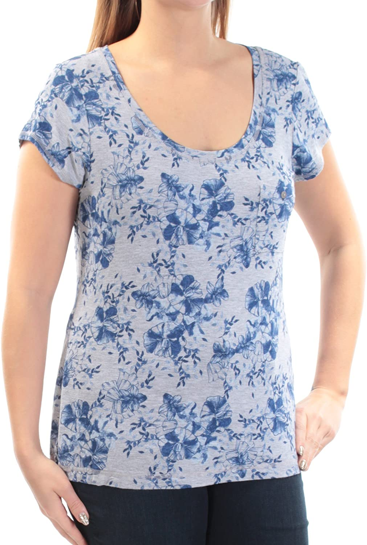 Alfani Womens Heathered Floral Print Pajama Top