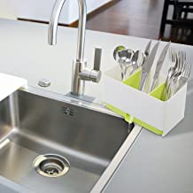 House of Quirk Plastic Sink Tidy Organiser, Green