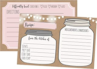 printable mason jar recipe cards