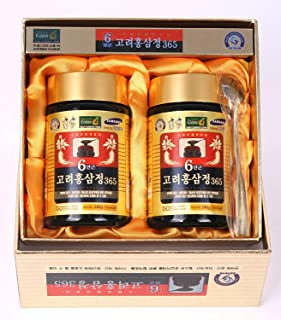 HongSamJeong 240g(8.5oz) X 2ea, Korean 6years Root Red Ginseng Gold Extract, Saponin, Panax