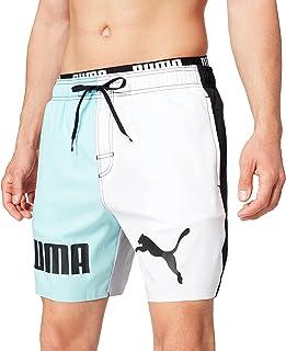 PUMA Swim Men's Colour Block Mid Shorts Bañador para Hombre