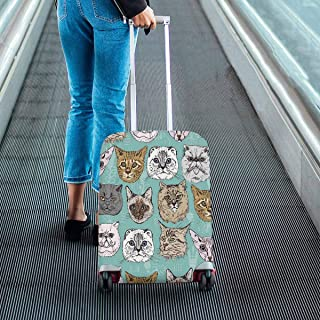 Suitcase Protectors hipster style Cats Print on Travel Luggage Covers Fit 18-28 Inch Luggage