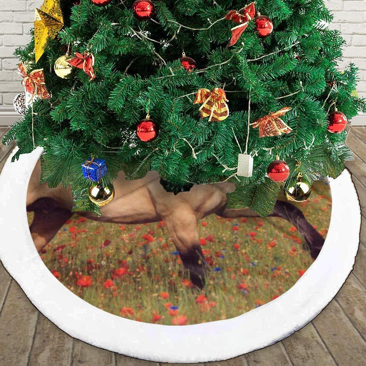 CZLXD - Falda para árbol de Navidad con diseño de Caballo de Piel ...