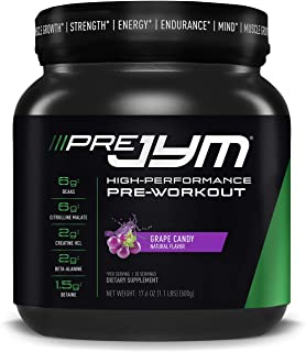 JYM Supplement Science Pre Jym 20 Servings - Grape Candy, Grape Candy, 17.6 Ounce