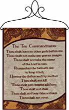 Manual Inspirational Collection 13 X 18-Inch Wall Hanging with Frame, Ten Commandments