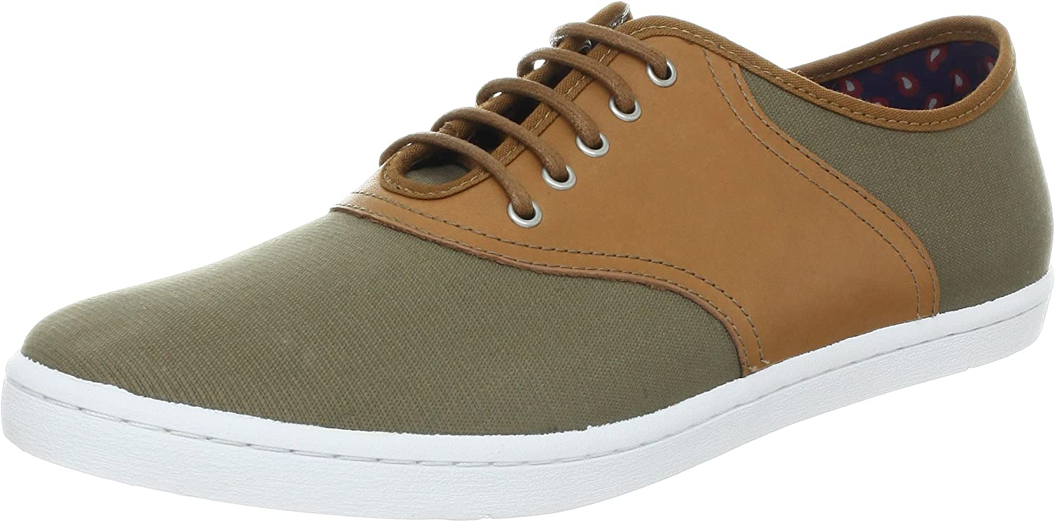 Fred Perry Colyer Bedford Canvas Leather B2184-627 Driftwood