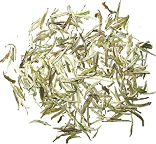 Organic Silver Needle White Tea, Premium White Tea Natural Loose leaf Tea All Young Buds 1 OZ