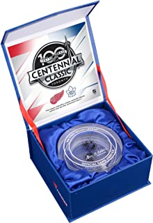 2017 NHL Centennial Classic Detroit Red Wings vs. Toronto Maple Leafs Crystal Puck - Filled With Ice From The 2017 Centennial Classic - Fanatics Authentic Certified