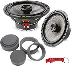 "$269 » Focal 165 AC Access 6-1/2"" (6.5 Inch) 2-Way 60 Watt RMS Coaxial Car Speakers Bundle with Fast Rings 3-Pc Audio Enhancement..."