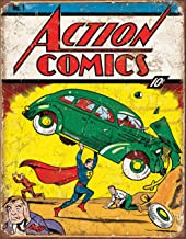 Desperate Enterprises Action Comics No 1 Cover Tin Sign, 12.5