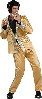 Costume Co - Elvis Gold Satin Suit Deluxe Adult Costume