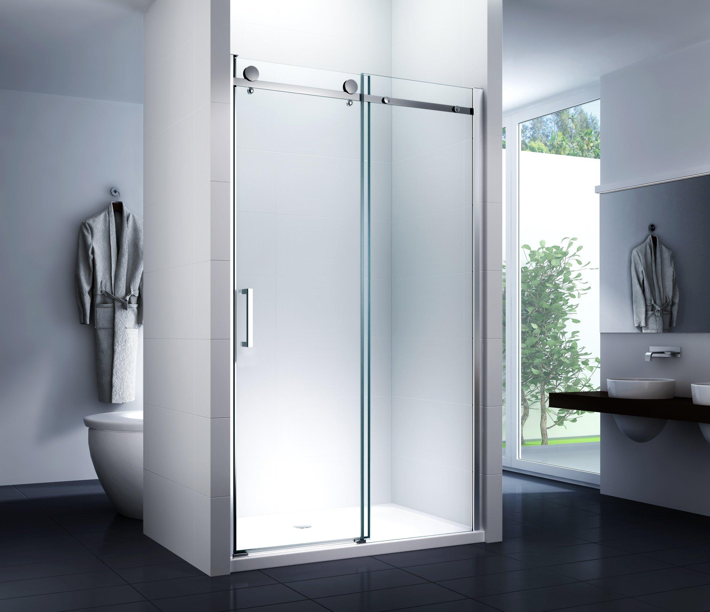 nichos para puerta deslizante Sistema ducha puerta Mampara técnicos ducha puerta corredera 125 x 195 cm ducha: Amazon.es: Bricolaje y herramientas