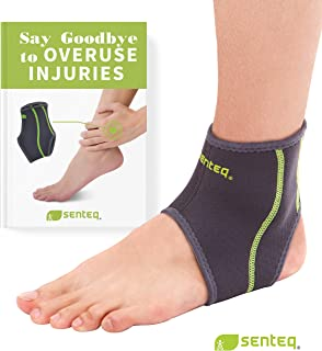 SENTEQ Ankle Brace - Breathable Neoprene Sleeve Provides Support, Compression and Pain Relief. Medical Grade and FDA Approved for Sprains, Strains, Arthritis and Torn Tendons.