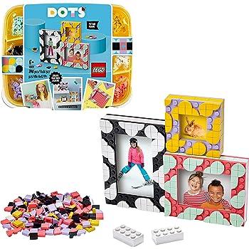 LEGO DOTS CorniciCreativeDIY,Set Fai da Te di Elementi Decorativi, Decorazioni per la Cameretta, Kit Artistici per Bambini, 41914