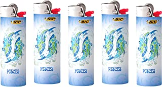 Bic Pisces Horoscope Astrology Lighters 5 Pack Collectable Design