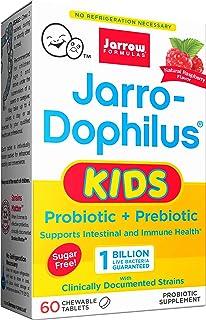 Jarrow Formulas Jarro-Dophilus Kids Natural Raspberry, 1 Billion Cells Per Tablet, 60 Count (Single)