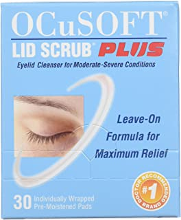 OCuSOFT Lid Scrub Plus, Pre-Moistened Pads, Individually Wrapped, 30 Pads (Pack of 2)