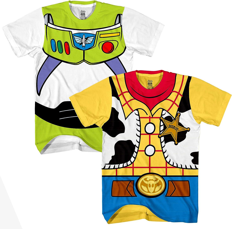 Disney Pixar Toy Story Boys 2 Pack T-Shirts Woody Buzz Lightyear