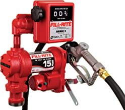 Fill-Rite FR1211H 12V 15 GPM Fuel Transfer Pump (Manual Nozzle, Discharge Hose, Mechanical Gallon Meter, Suction Pipe)